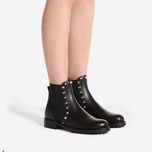 Valentino Garavani Vitello Leather Boots